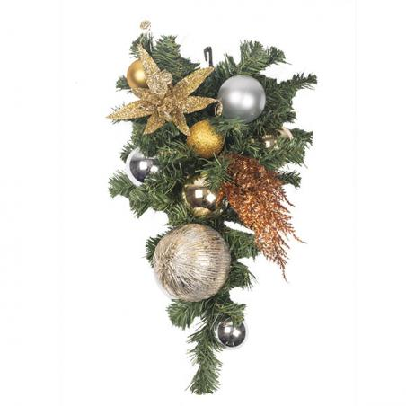 Precious Metals Theme Range - 60cm Pre-Decorated Wreath