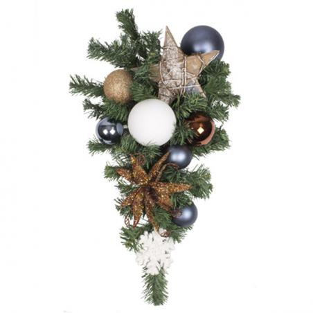 Nordic Winter Theme Range - 2.7m x 35cm Pre-Decorated Garland