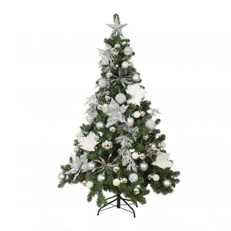 Simply Silver Theme Range - 60cm Pre-Decorated Wreath