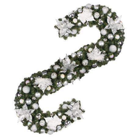 Simply Silver Theme Range - 60cm Pre-Decorated Wreath