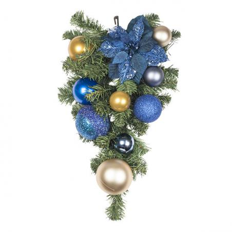 Regal Blue Theme Range - 60cm Pre-Decorated Wreath