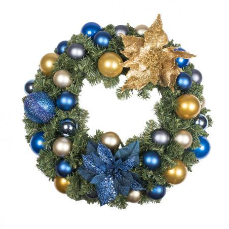 Regal Blue Theme Range - 2.7m x 35cm Pre-Decorated Garland