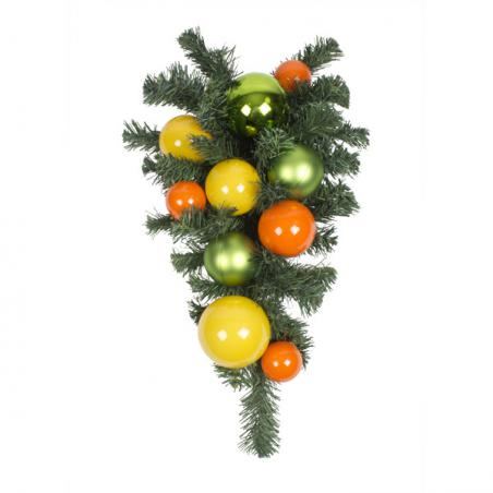 Citrus Burst Theme Range - 60cm Pre-Decorated Wreath