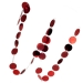 Red Disc Garland - 2m x 5cm