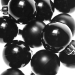 Black Baubles - Shatterproof - Pack of 16 x 40mm