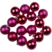 Cerise Pink Baubles - Shatterproof - Pack of 16 x 40mm