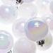 White Iridescent Baubles - Shatterproof - Pack of 16 x 40mm