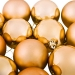 Gold Baubles - Shatterproof - Pack of 12 x 60mm