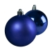 Cobalt Blue Baubles - Shatterproof - Pack of 6 x 80mm