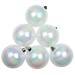 White Iridescent Baubles - Shatterproof - Pack of 6 x 80mm