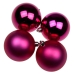 Cyclamen Pink Baubles - Shatterproof - Pack of 4 x 100mm