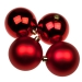 Christmas Red Baubles - Shatterproof - Pack of 4 x 100mm