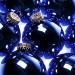 Krebs Deep Blue Glass Baubles - 8 x 67mm