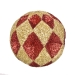 Red & Gold Diamond Cut Glitter Bauble - 10cm