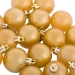 Metallic Gold Baubles Shiny Shatterproof - Pack Of 18 x 40mm