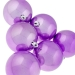 Pearl Purple Baubles Shiny Shatterproof - Pack Of 6 x 80mm