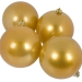 Metallic Gold Baubles Shiny Shatterproof - Pack Of 4 x 100mm