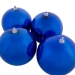 Blue Baubles Shiny Shatterproof - Pack Of 4 x 140mm