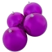 Cerise Pink Baubles Shiny Shatterproof - Pack Of 4 x 140mm