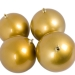 Metallic Gold Baubles Shiny Shatterproof - Pack Of 4 x 140mm
