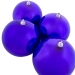 Purple Baubles Shiny Shatterproof - Pack Of 4 x 140mm