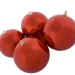 Red Baubles Shiny Shatterproof - Pack Of 4 x 140mm
