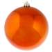 Orange Baubles Shiny Shatterproof - Single 200mm
