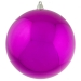 Cerise Pink Baubles Shiny Shatterproof - Single 250mm