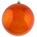 Orange Baubles Shiny Shatterproof - Single 250mm