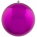 Cerise Pink Baubles Shiny Shatterproof - Single 300mm