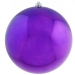 Purple Baubles Shiny Shatterproof - Single 300mm