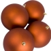 Copper Orange Shatterproof Baubles  - Pack of 4 x 140mm Matt