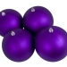 Purple Shatterproof Baubles  - Pack of 4 x 140mm Matt