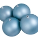 Light Turquoise Shatterproof Baubles  - Pack of 4 x 140mm Matt