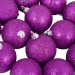 Xmas Baubles - Pack of 18 x 60mm Purple Glitter Shatterproof