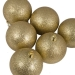 Xmas Baubles - Pack of 6 x 80mm Gold Glitter Shatterproof