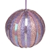 Pale Pink & Lilac Striped Sequin Bauble - 100mm