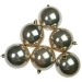 Pearlised Champagne Gold Shatterproof Baubles - 6 x 80mm