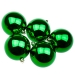Green UV Protected Shatterproof Baubles - Pack of 6 x 80mm