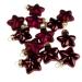 Dark Red Glass Stars - 12 x 40mm