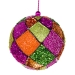 Pink, Orange & Green Decorative Harlequin Beaded Ball - 10cm