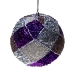 Purple & Silver Decorative Harlequin Beaded Ball - 10cm
