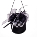 Black & Silver Round Gift Box Hanging Decoration - 7cm X 6cm