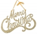 Gold Merry Christmas Hanging Decoration - 25cm