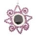 Pink Flower Mirror Decoration - 12cm