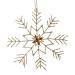 Gold Snowflake Hanging Decoration - 15cm X 16cm