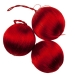 Red Silk Ball Hanging Decorations - 3 x 70mm