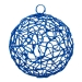 Blue Woven Metal Mesh Decoration - 75mm