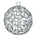 Silver Woven Metal Mesh Decoration - 75mm