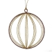 Gold & Brown Round Glittered Wire Decoration - 9cm